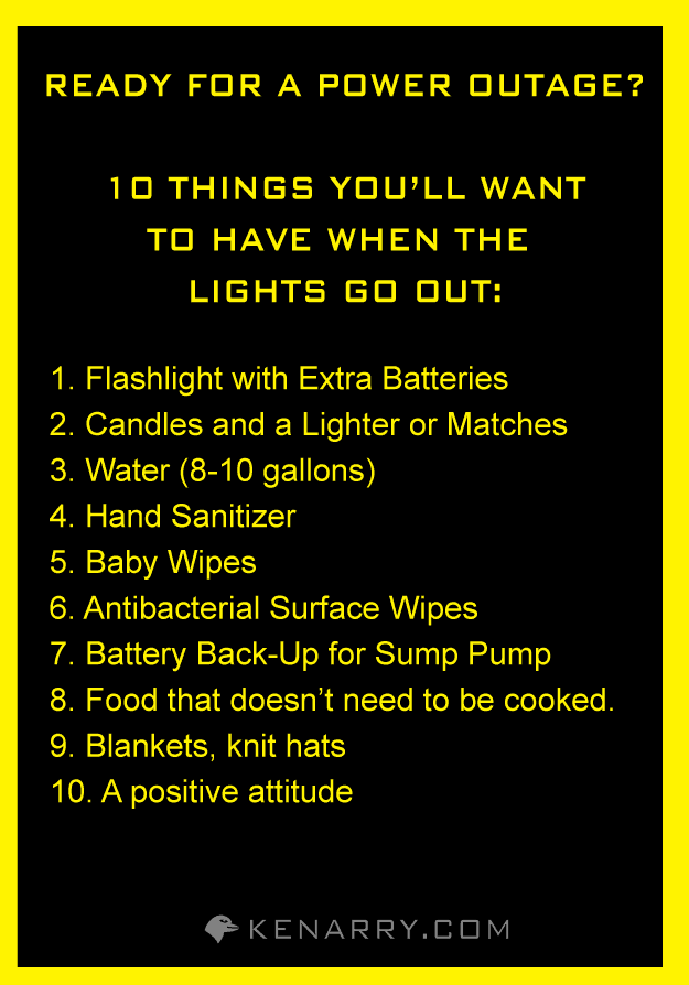 Power Outage Five Reasons To Give Thanks