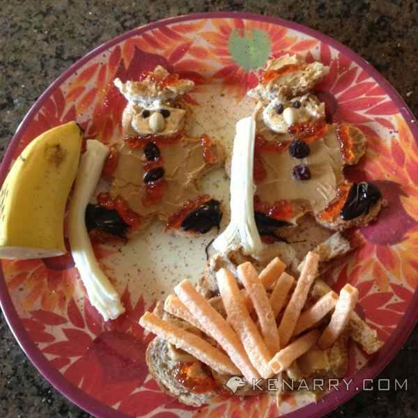 """""""Firemen Toast"""" - """"Firemen Toast"""" - Use these four ideas to make cookie cutter sandwiches and quickly turn boring old peanut butter and jelly sandwiches into a fun lunch for your children. - Kenarry.com"""