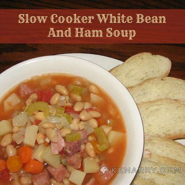 Slow Cooker White Bean and Ham Soup - Kenarry.com