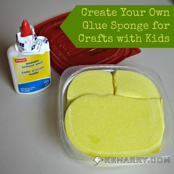 Glue Sponge: Make Crafts and Art Projects Easier for Kids - Kenarry.com