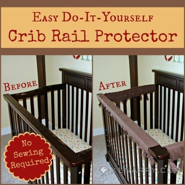 DIY Crib Rail Protector: Easy Idea With No Sewing Required - Kenarry.com