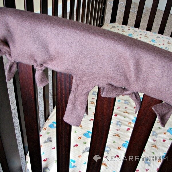 diy crib rail cover easy idea with no sewing required