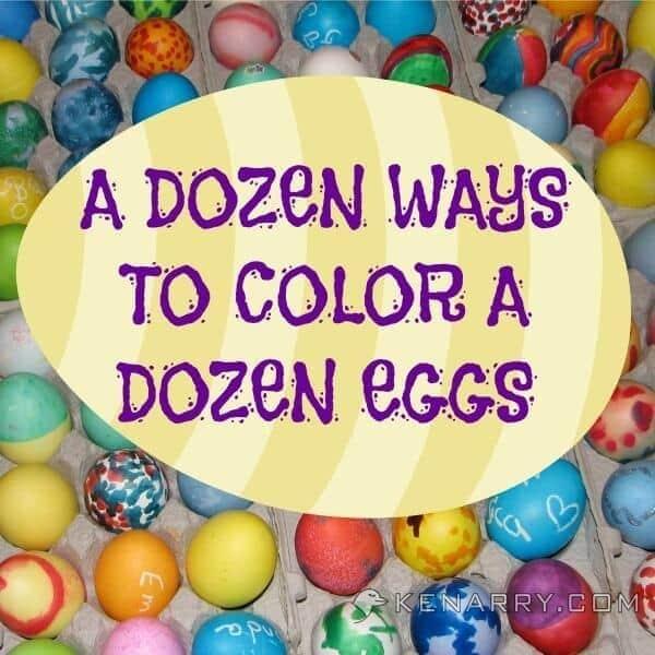 coloring easter eggs a dozen ways to color a dozen eggs kenarrycom