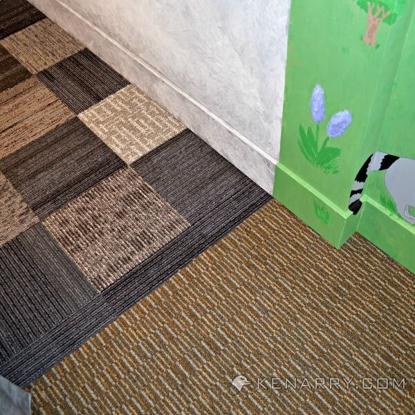 Castle playroom floors creating space with carpet squares Playroom flooring ideas