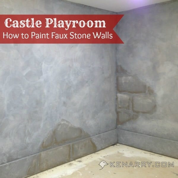 Castle playroom walls how to paint faux stone walls for How to paint faux marble wall
