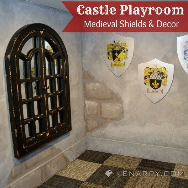 Carpet Castle Decor: Castle Playroom Shields And Decor: Setting A Medieval Scene