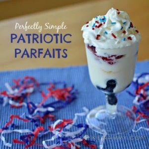 Perfectly Simple Patriotic Parfaits for Independence Day - A cool red, white and blue yogurt treat, great for 4th of July, Memorial Day or Labor Day - Kenarry.com