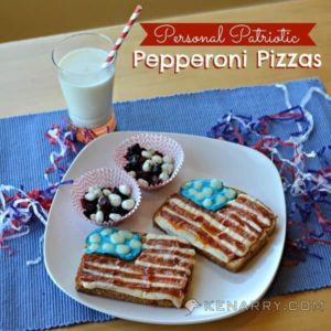 Personal Patriotic Pepperoni Pizza for An All-American Lunch - Kenarry.com