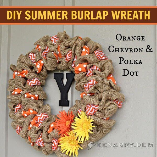 Diy sunday showcase party and features july 19 2014 for Diy summer wreath
