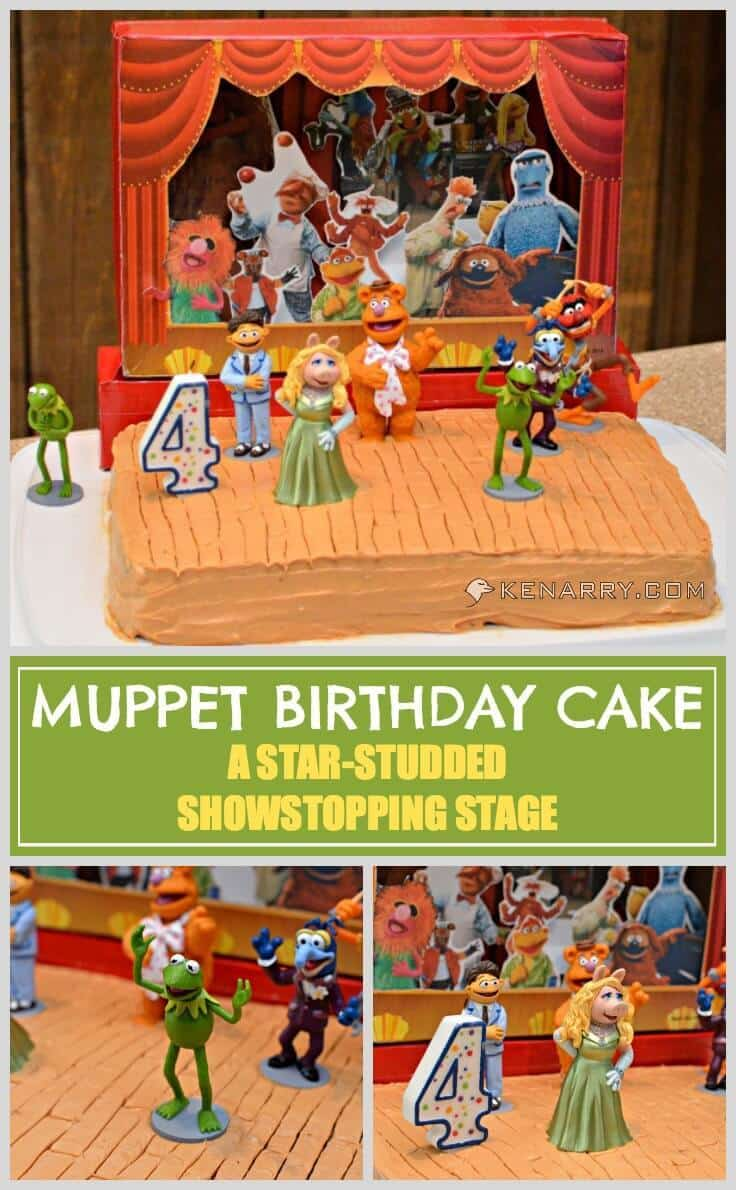 Muppet Birthday Cake: A Star-Studded Showstopping Stage, great for a Muppets Most Wanted birthday or a child who loves Kermit, Miss Piggy, Gonzo, Fozzie Bear and all the other Muppet friends. - Kenarry.com