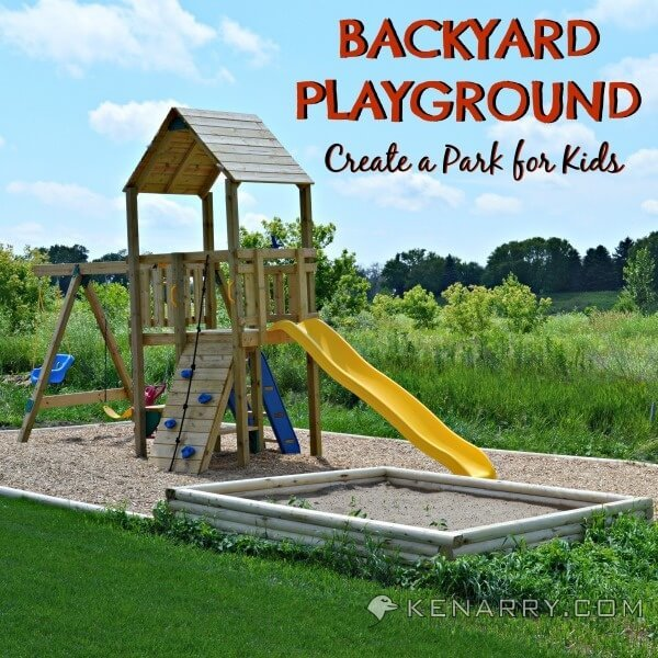 Diy Backyard Playground How To Create, How To Build A Playground Border