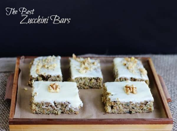 The Best Zucchini Bars by Cookie Dough and Oven Mitt - Zucchini Recipes on Kenarry.com