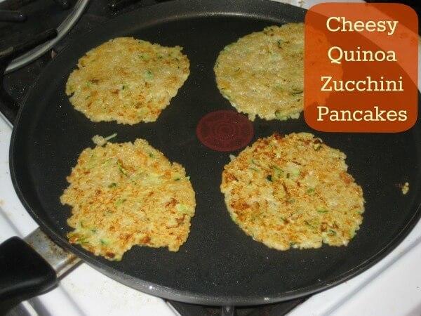 Cheesy Quinoa Zucchini Pancakes by Its a Wahm Life - Zucchini Recipes on Kenarry.com