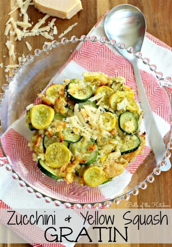 Zucchini and Yellow Squash Gratin by Belle of the Kitchen - Zucchini Recipes on Kenarry.com