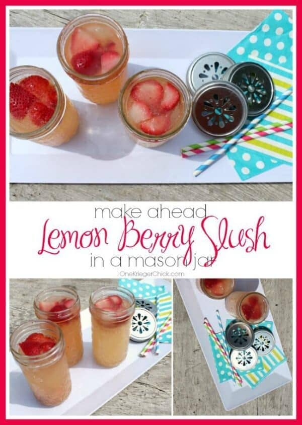 Make Ahead Lemon Berry Slush - One Krieger Chick