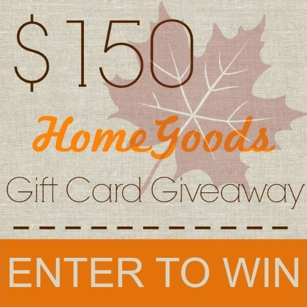 $150 HomeGoods Gift Card Giveaway Square