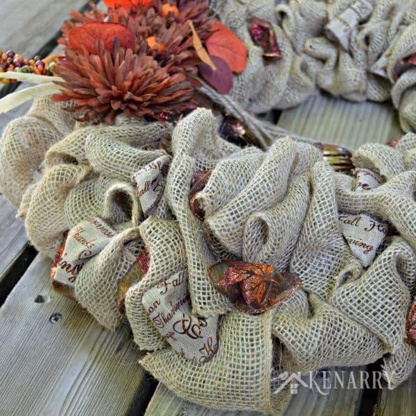 DIY Burlap Wreathes: 3 Beautiful Ideas for Fall