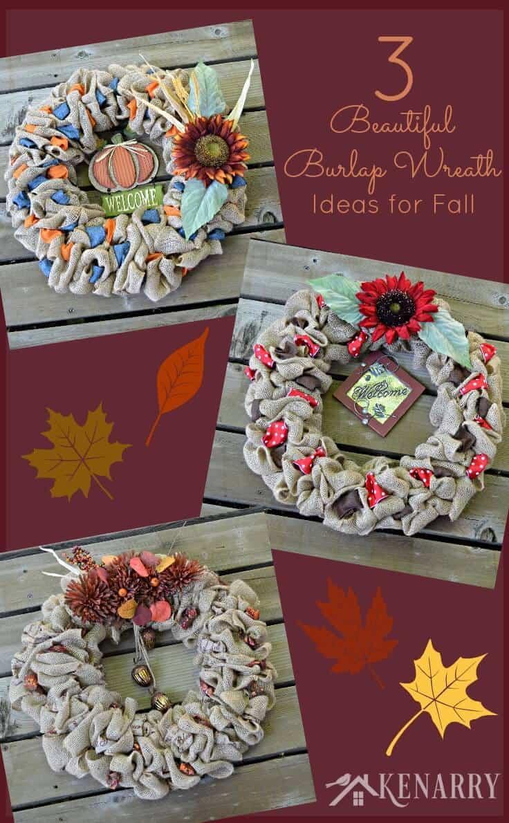 Burlap Wreaths: 3 Beautiful DIY Craft Ideas