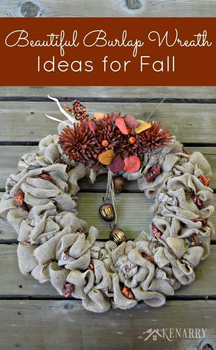 Fall Burlap Wreaths: 3 Beautiful DIY Craft Ideas - Kenarry: Ideas for the Home