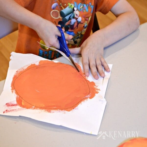 Halloween Jack O'Lantern Craft for Kids and Toddlers