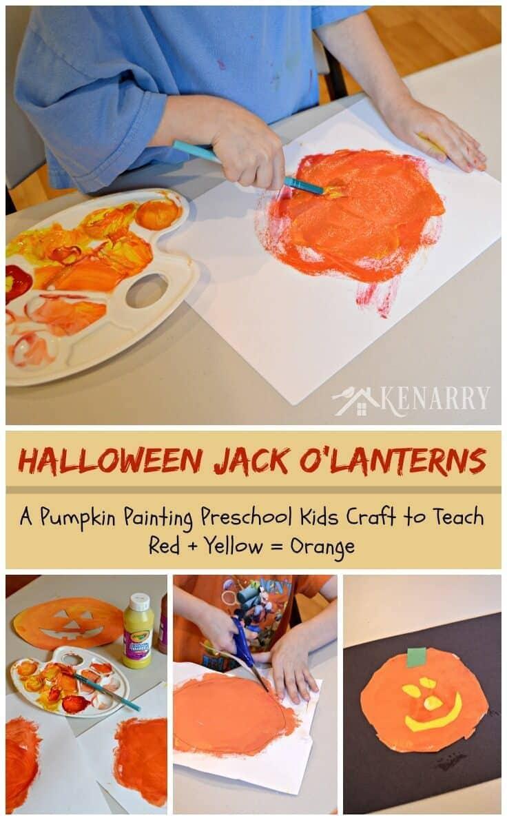 jack o u0027lantern craft for kids and toddlers