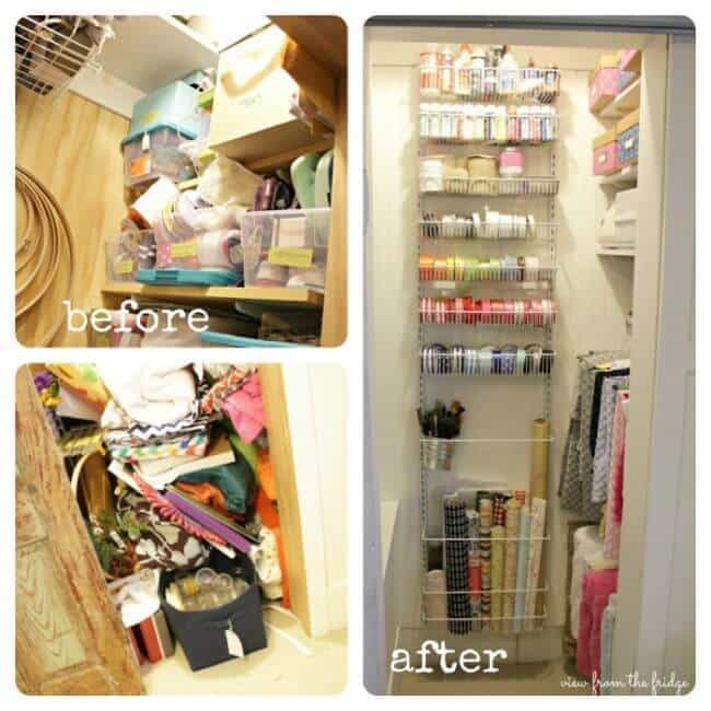 Craft Closet Organization on View from the Fridge in the Summer Spotlight