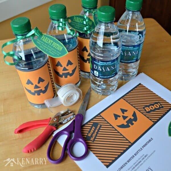 Water Bottle Dasani: Halloween Water Bottle Pumpkins: Free Printable Labels