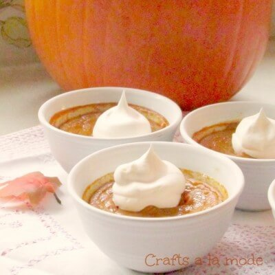Easy and Creamy Pumpkin Pudding - Gluten Free - Crafts a la Mode featured on Ideas for the Home by Kenarry®