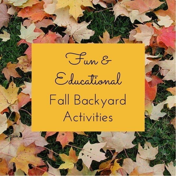 """10 Fun and Educational Fall Backyard Activities for Kids - The graphic, """"Fun and Educational Fall Backyard Activities"""", was modified from a photo titled """"Fallen Leaves"""", copyright (c) 2003 mksfly on Flickr and made available under an Attribution-ShareAlike 2.0 license."""