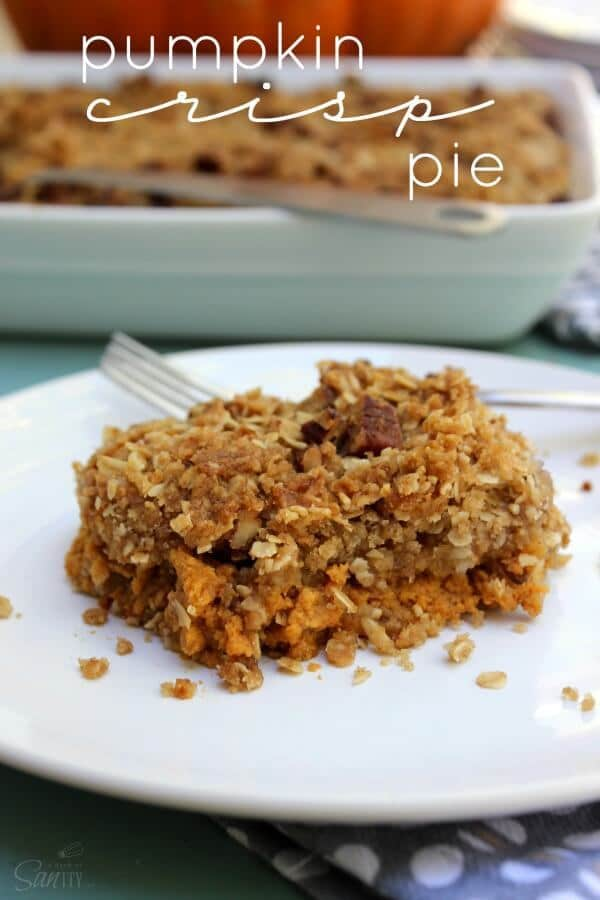 Pumpkin Crisp Pie - A Dash of Sanity featured on Ideas for the Home by Kenarry®