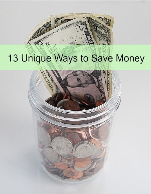13 Unique Ways to Save Money - A Cultivated Nest featured on Ideas for the Home by Kenarry®
