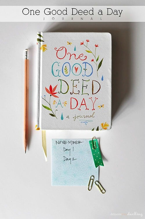 One Good Deed a Day - Delineate Your Dwelling featured on Ideas for the Home by Kenarry®