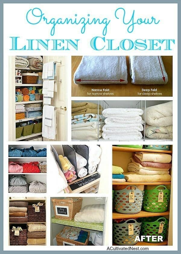 Organizing Your Linen Closet - A Cultivated Nest featured on Ideas for the Home by Kenarry®
