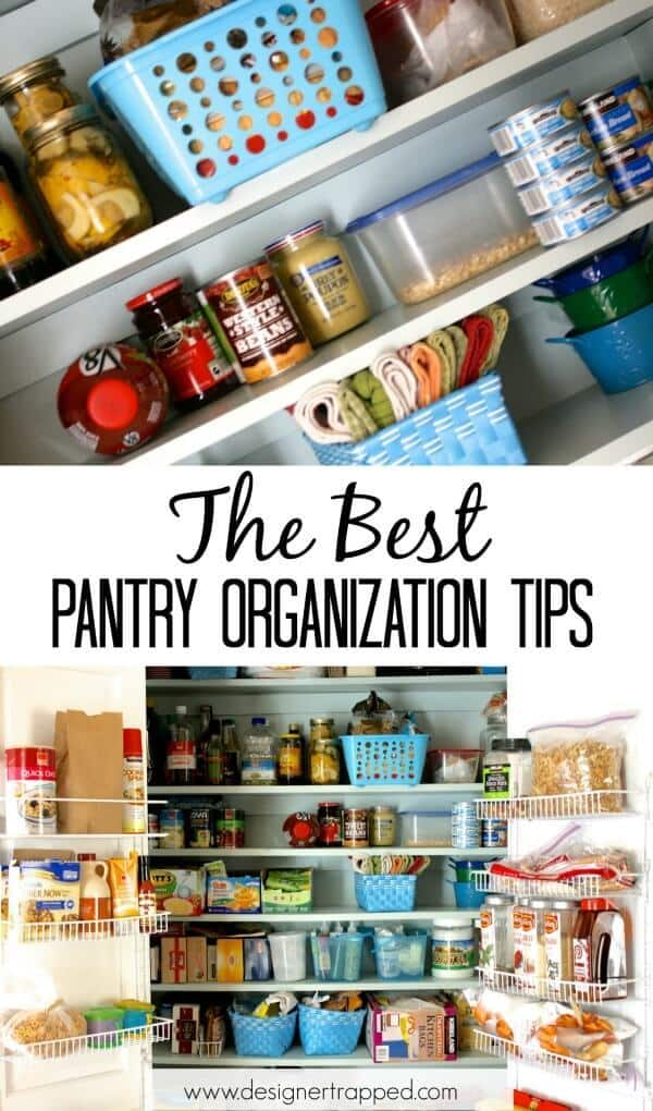 The Best Pantry Organization Tips - Designer Trapped in a Lawyer's Body featured on Ideas for the Home by Kenarry®