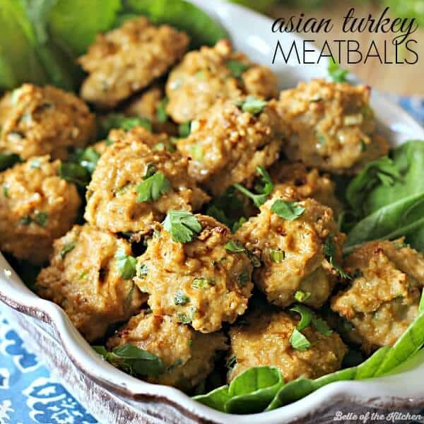 These Asian Turkey Meatballs are flavorful, easy, and make a perfect lightened up dinner option.