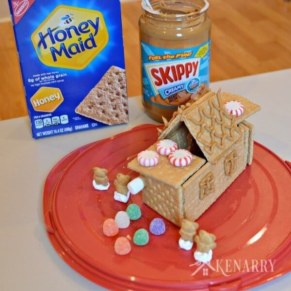 What fun family holiday ideas! Make a holiday gingerbread house with graham crackers and peanut butter. The kids will love this at Christmas time.