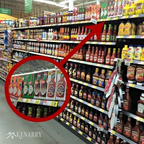 Chipotle Tabasco sauce and other flavors at Walmart - great for making delicious party food!