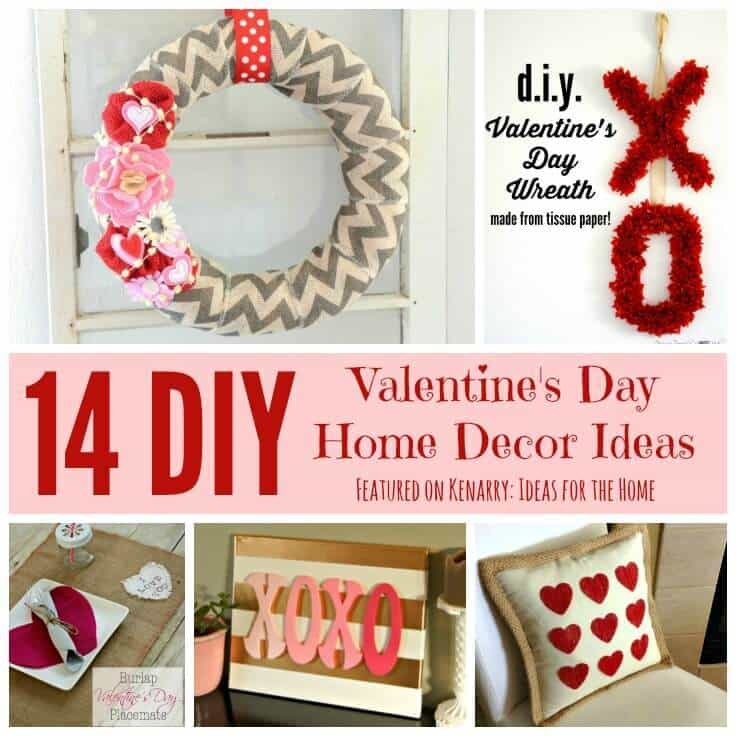 Valentine Home Decorations: Valentine's Day Home Decor: 14 Beautiful DIY Ideas