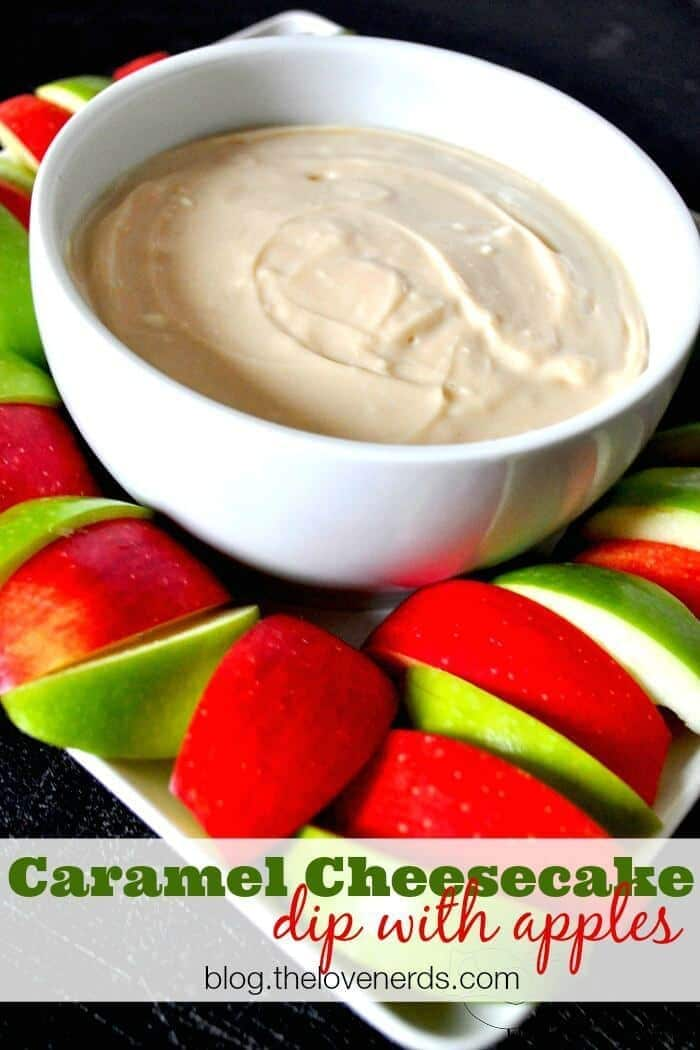 Caramel Cheesecake Dip with Apples from The Love Nerds featured on Ideas for the Home by Kenarry®