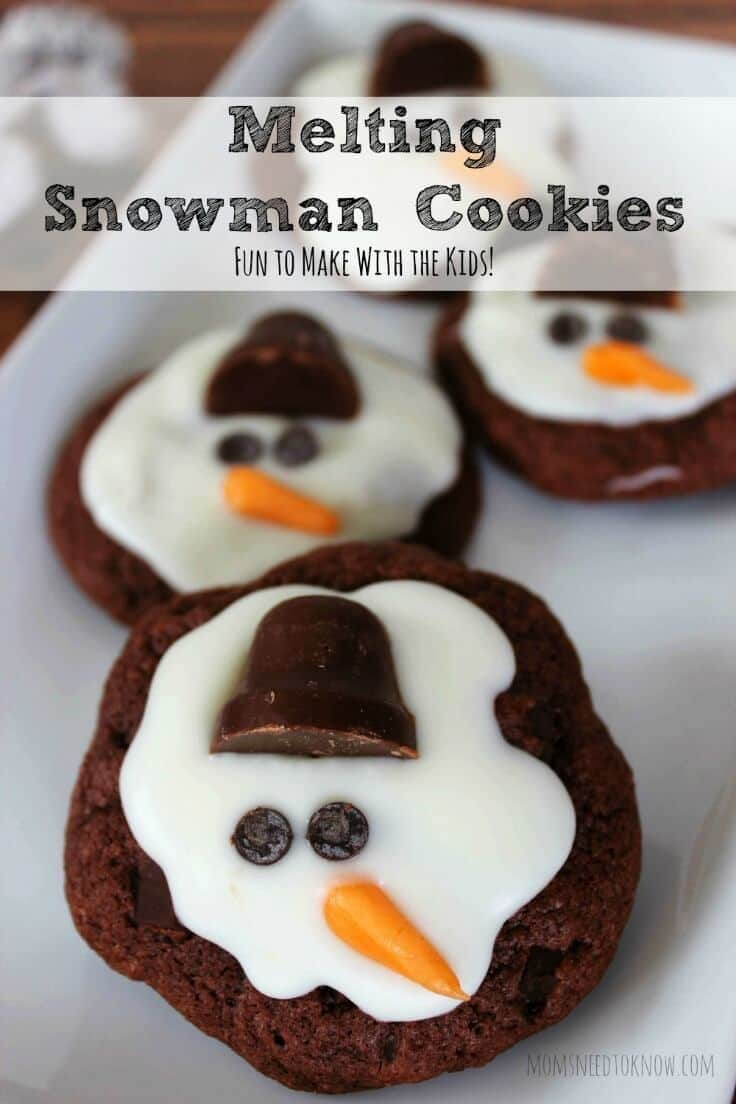Melting Snowman Cookies - Moms Need to Know featured on Ideas for the Home by Kenarry®