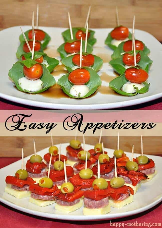 Caprese and Antipasto Skewers from Happy Mothering featured on Ideas for the Home by Kenarry®