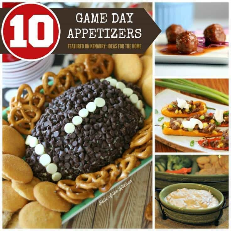 Are you ready for some football? 10 game day recipes to give you plenty of appetizer inspiration for your Super Bowl party.