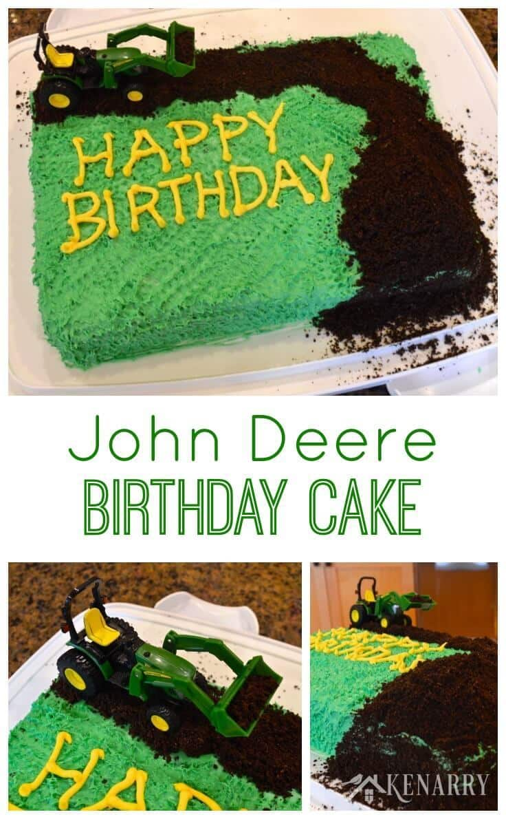 John Deere Cake An Easy Tractor Birthday Idea