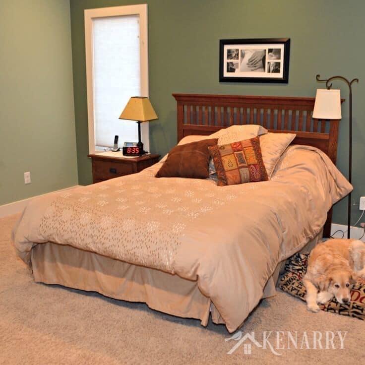 Master Bedroom Sage Green and Khaki