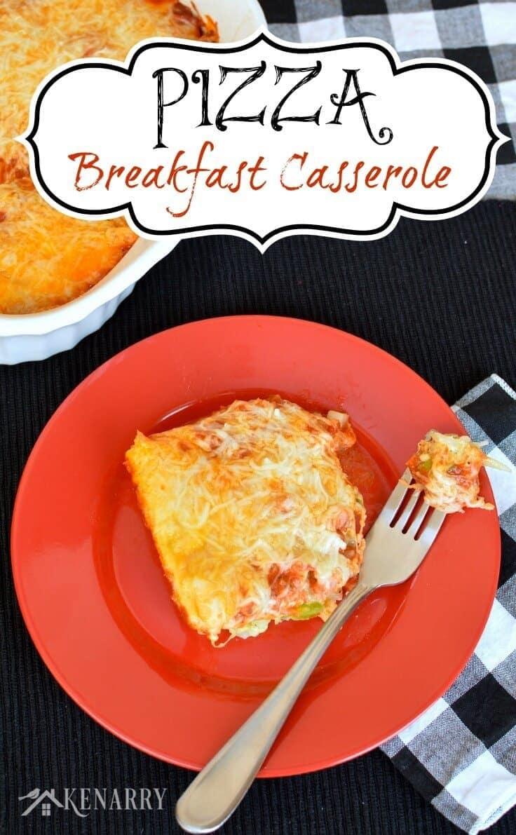 Make Ahead Pizza Breakfast Casserole