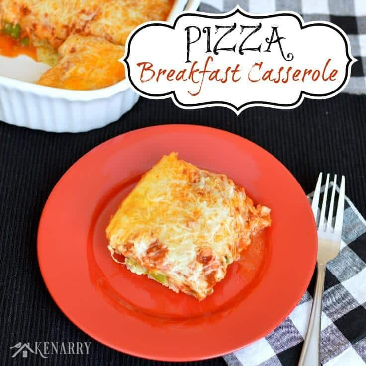 Who says pizza is just for dinner? Try this Pizza Breakfast Casserole, a delicious, easy, make-ahead recipe the whole family will enjoy.