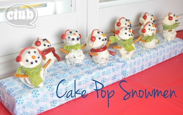 Gingerbread Snowmen Cake Pops - Club Chica Circle featured on Ideas for the Home by Kenarry®