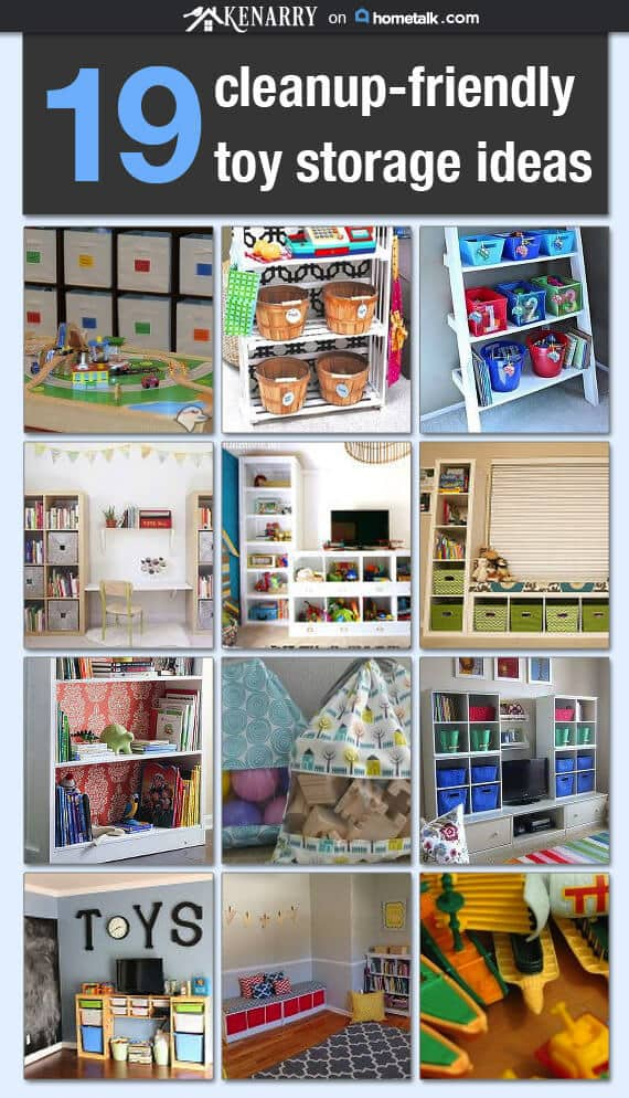 Are you tripping over toys in your home? Here are 19 toy storage and ...