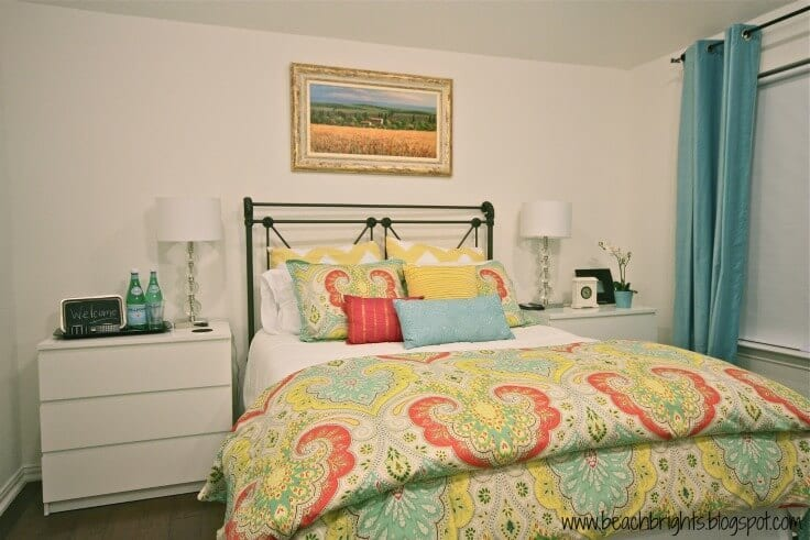 """Love these ideas for guest bedrooms! Photo credit: """" Beachbrights Guest Bedroom"""" copyright (c) 2012 Christy Bright on Flickr and made available under an Attribution 2.0 license"""