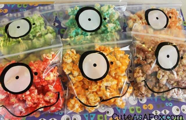 Monster Jello Popcorn - Cute As a Fox featured on Ideas for the Home by Kenarry®